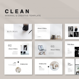 Minimal & Clean PowerPoint Template