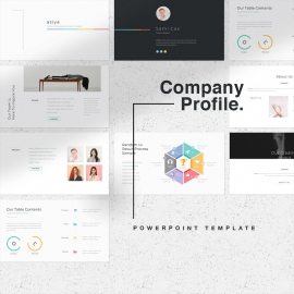 Minimal Company Profile PowerPoint