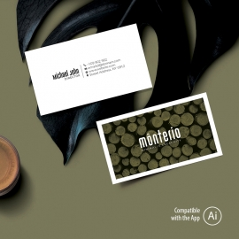 Minimal Creative Business Card with Olive Color