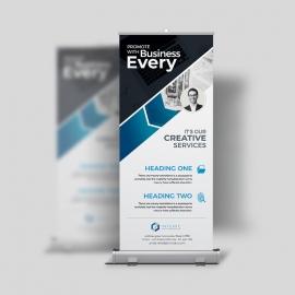 Minimal Creative Clean Rollup Banner