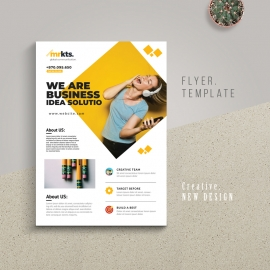 Minimal Creative Flyer With Boxs
