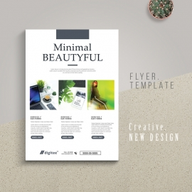 Minimal Creative Flyer With Portfolio