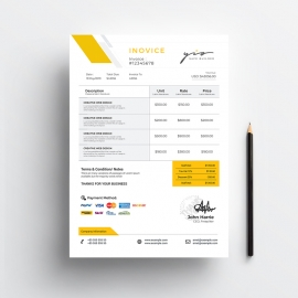 Minimal Creative Invoice