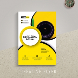Minimal & Creative Yellow Flyer