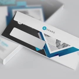 Minimal DL Envelope Commercial With Black Accent