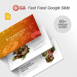 Minimal Fast Food Google Slide Template