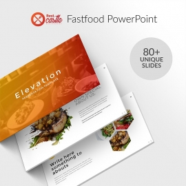 Minimal Fastfood PowerPoint Template Free Download