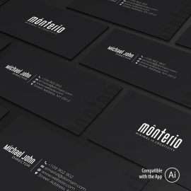Minimal Grayscale Business Card