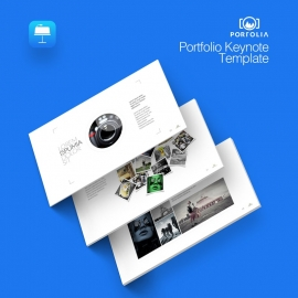Minimal Portfolio Keynote | Portolia