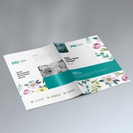 Minimal Presentation Folder With Flowers