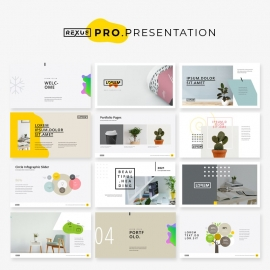 Minimal Presentation Layout with Yellow Accents