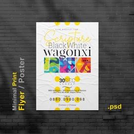Minimal Print Design Flyer / Poster