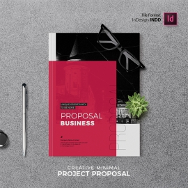 Minimal Project Proposal With Red Accent