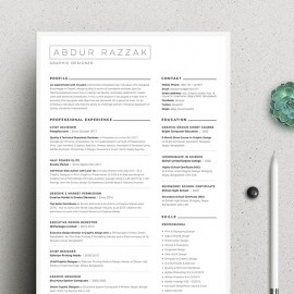 Minimal Resume with Microsoft Word & Photoshop