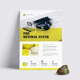 Minimal Simple Flyer With Green Accent