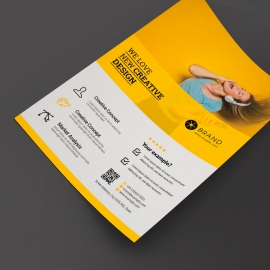 Minimal Yellow Business Flyer