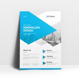 Minimalism Blue Color Flyer