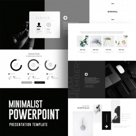 Freepiker Minimalist Black White Powerpoint Template