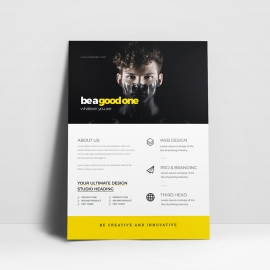 Minimalist Business Flyer With Black/ Yellow Accent
