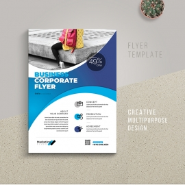 Minimalist Business Flyer With Cricle