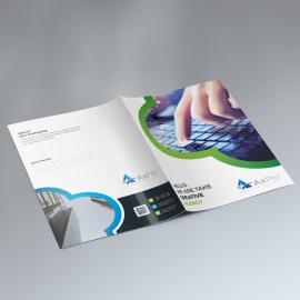 Minimalist Business Presentation Folder