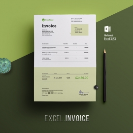 Minimalist Corporate Excel Invoice