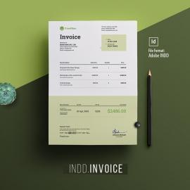 Minimalist Corporate Indesign Invoice