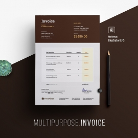Minimalist Corporate Invoice