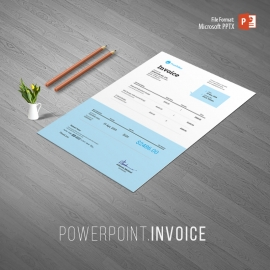 Minimalist Corporate Powerpoint Invoice