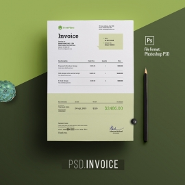 Minimalist Corporate PSD Invoice
