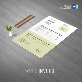 Minimalist Corporate Word Invoice
