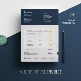 Minimalist Dark Corporate Invoice