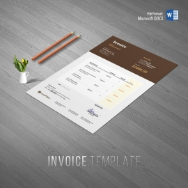 Minimalist Dark Corporate Invoice