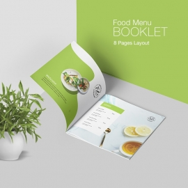 Minimalist Food Menu Booklet