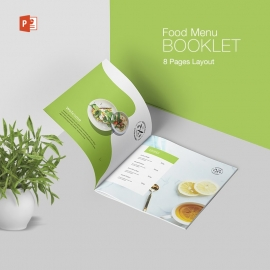 Minimalist Food Menu Booklet With Green Color