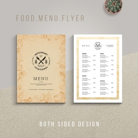 Minimalist Food Menu Flyer