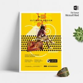 Minimalist Yellow Poster & Flyer