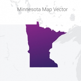 Minnesota Map By Gradient Vector Design