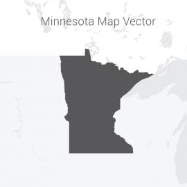 Minnesota Map Dark Vector Design