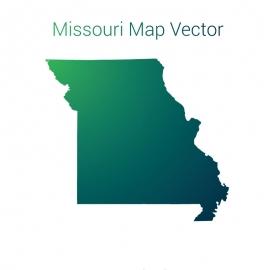 Missouri Map By Gradient Vector Design