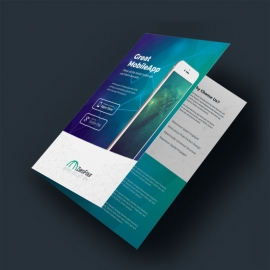 Mobile Apps BiFold Brochure With Digital Concept