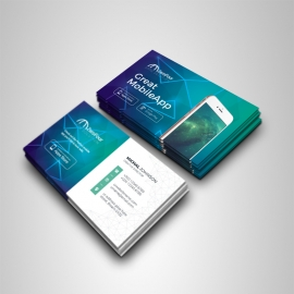 Mobile Apps Business Card With Digital Concept