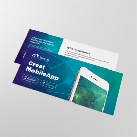 Mobile Apps Compliment Card With Digital Concept