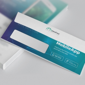 Mobile Apps DL Envelope Commercial With DIgital Concept