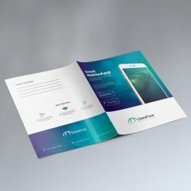 Mobile Apps Presentation Folder With DIgital Concept