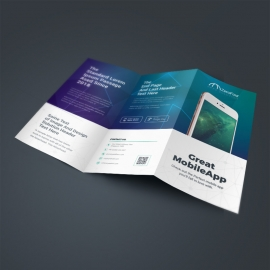 Mobile Apps TriFold Brochure With Digital Concept