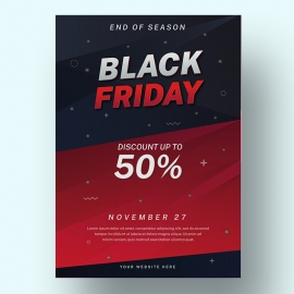 Modern Abstract Black Friday Flyer Design Template