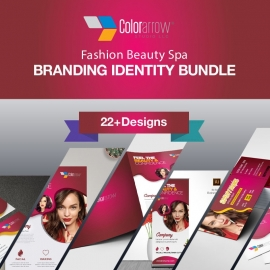 Modern And Beauty Spa Fashion Identity Stationery Bundle