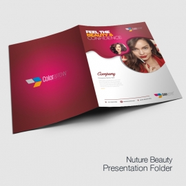 Modern Beauty Fashion Presentation Folder With Red Accent