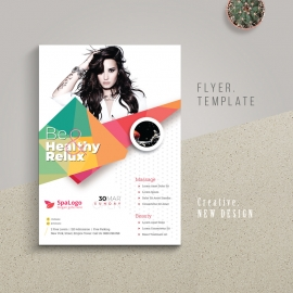 Modern Beauty Flyer With Abstract Design